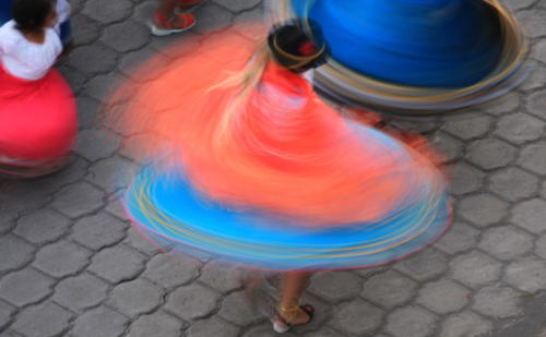 Twirling colors during Inti Raymi.
